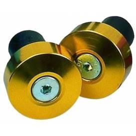 Závaží řídítek s redukcí pro vnitřní průměr 13 a 18 mm (vnější 22 a 28,6mm), OXFORD - Anglie (zlatý elox, pár)