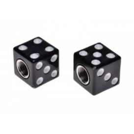 Tuningové krytky ventilov kocka čierna (2ks)