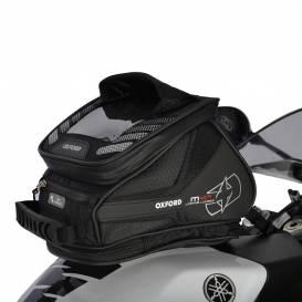Brašna na motocykl M4R Tank 'n' Tailer, OXFORD - Anglie (černý, s magnetickou základnou a popruhy, objem 4l)