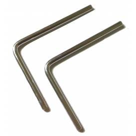Tyčky k uchycení plexi štítu - 15cm