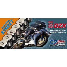 Chain 530DZX, ČZ - ČR (color black, 110 links incl. rivet coupling RIVET)