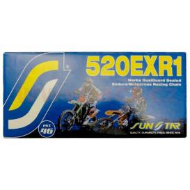 Chain 520EXR1, SUNSTAR (x-ring, color gold, 108 links)