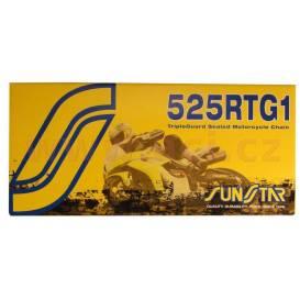 Reťaz 525RTG1, SUNSTAR (x-krúžok, farba zlatá, 100 článkov)