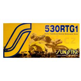 Chain 530RTG1, SUNSTAR (x-ring, color gold, 116 links)