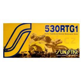 řetěz 530RTG1, SUNSTAR (x-kroužek, barva zlatá, 116 článků)