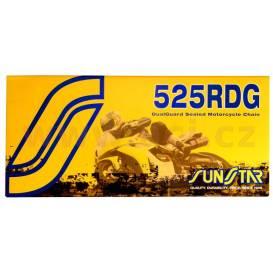 Reťaz 525RDG, SUNSTAR (x-krúžok, farba čierna, 104 článkov)