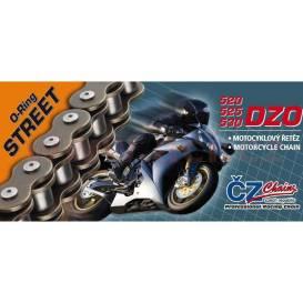 řetěz 530DZO, ČZ - ČR (barva černá, 114 článků vč. nýtovací spojky RIVET)