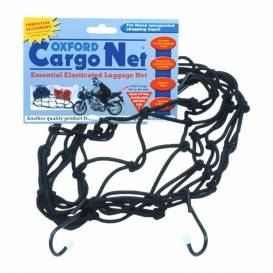 Flexible luggage net for motorcycles, OXFORD - England (30 x 30 cm, black)
