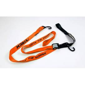 Clamping straps with quick-release coupling (width 38 mm / length 2 m / load capacity 550 kg), RTECH (1 pair, orange)