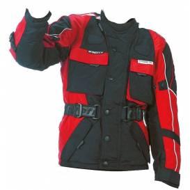 Bunda Taslan, ROLEFF, detská (čierna / červená)