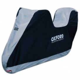 Aquatex motorcycle tarpaulin with trunk space, OXFORD - England (black / silver)