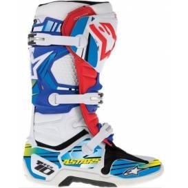 Sada polepů pro boty TECH 10, ALPINESTARS - Itálie (modrá/světle modrá/žlutá)