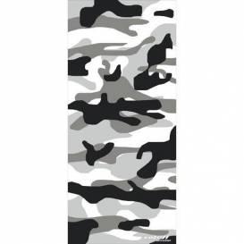 Nákrčník víceúčelový Camo, ROLEFF (černý/šedý/bílý)