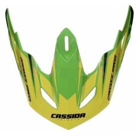 Šilt pre prilby Cross Pro, Cassidy - ČR (zelená / žltá fluo / čierna, seriová dĺžka šiltu)