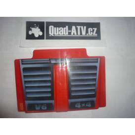 Plastic trunk lid Aku Jeep - red