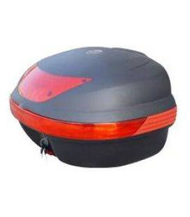 Plastic and metal boxes for motorcycles
